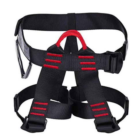 Sushiyi Protect Climb Harness, Adjustable Thick Waist Safety Half Body Harnesses for Outdoor Training Caving Rock Climbing Rappelling Tree Climbing Mountain Fire Rescuing