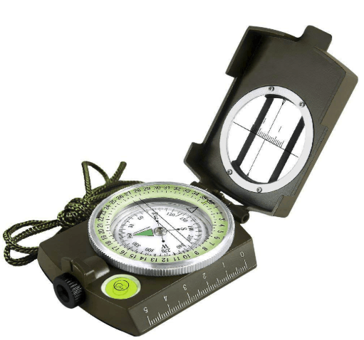 Eyeskey Multifunctional Military Army Aluminum Alloy Compass with Map Measurer Distance Calculator Great for Hiking, Camping, Motoring, Boating, Backpacking and Mountaineering