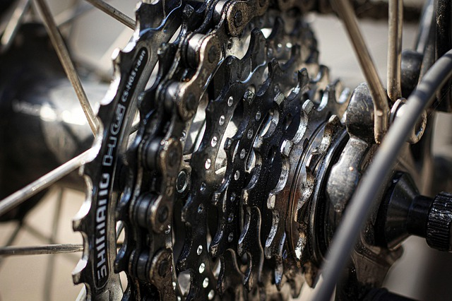 A close up of a metal chain